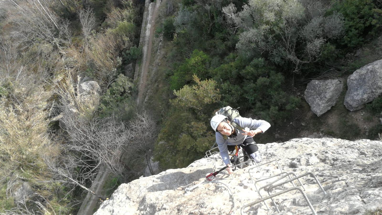 Vía ferrata de Roca Molí (Alcora, Castellón)