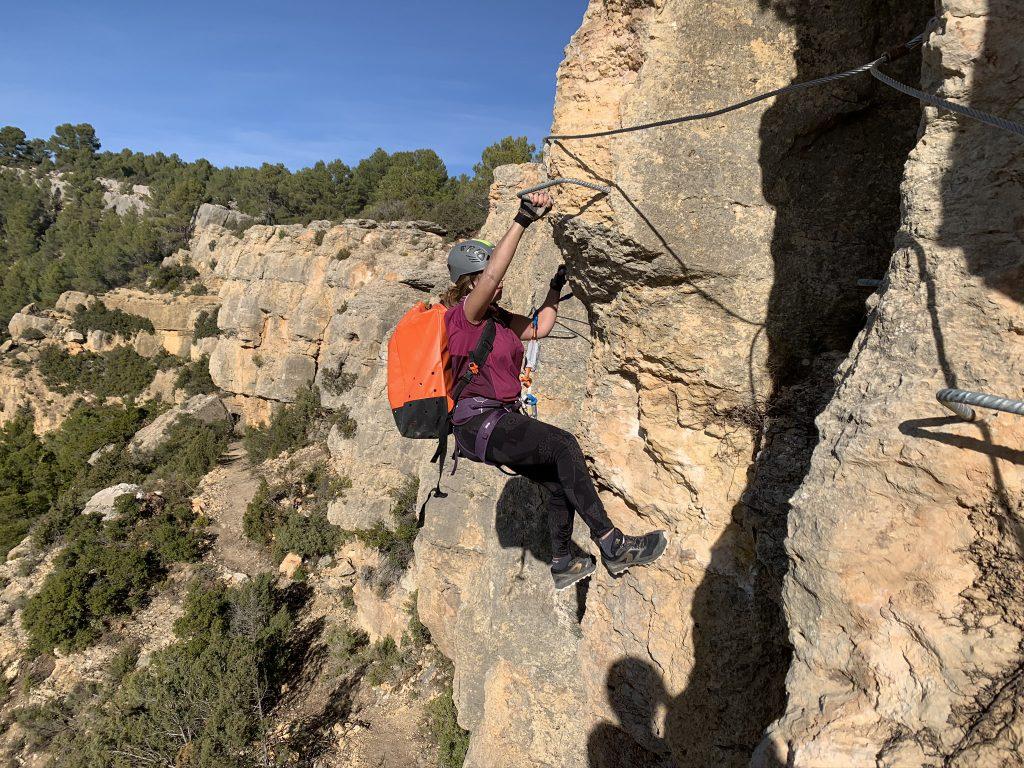 Vía ferrata de La Lámpara (Titaguas, Valencia)