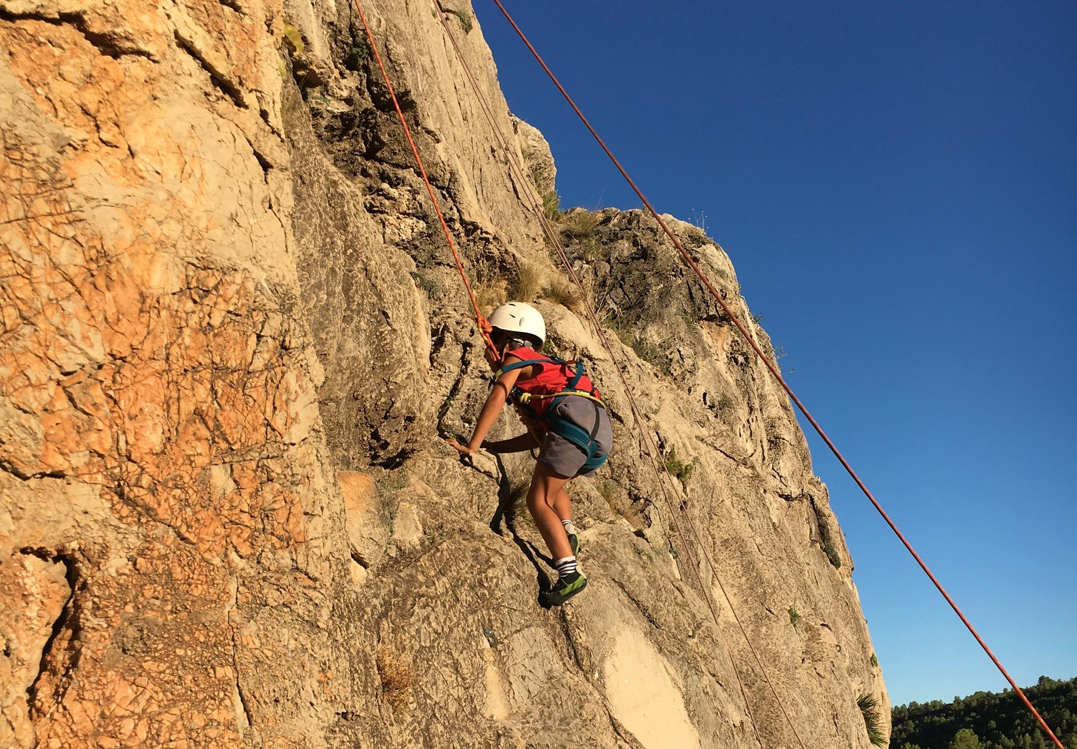 Bautismo de escalada en roca