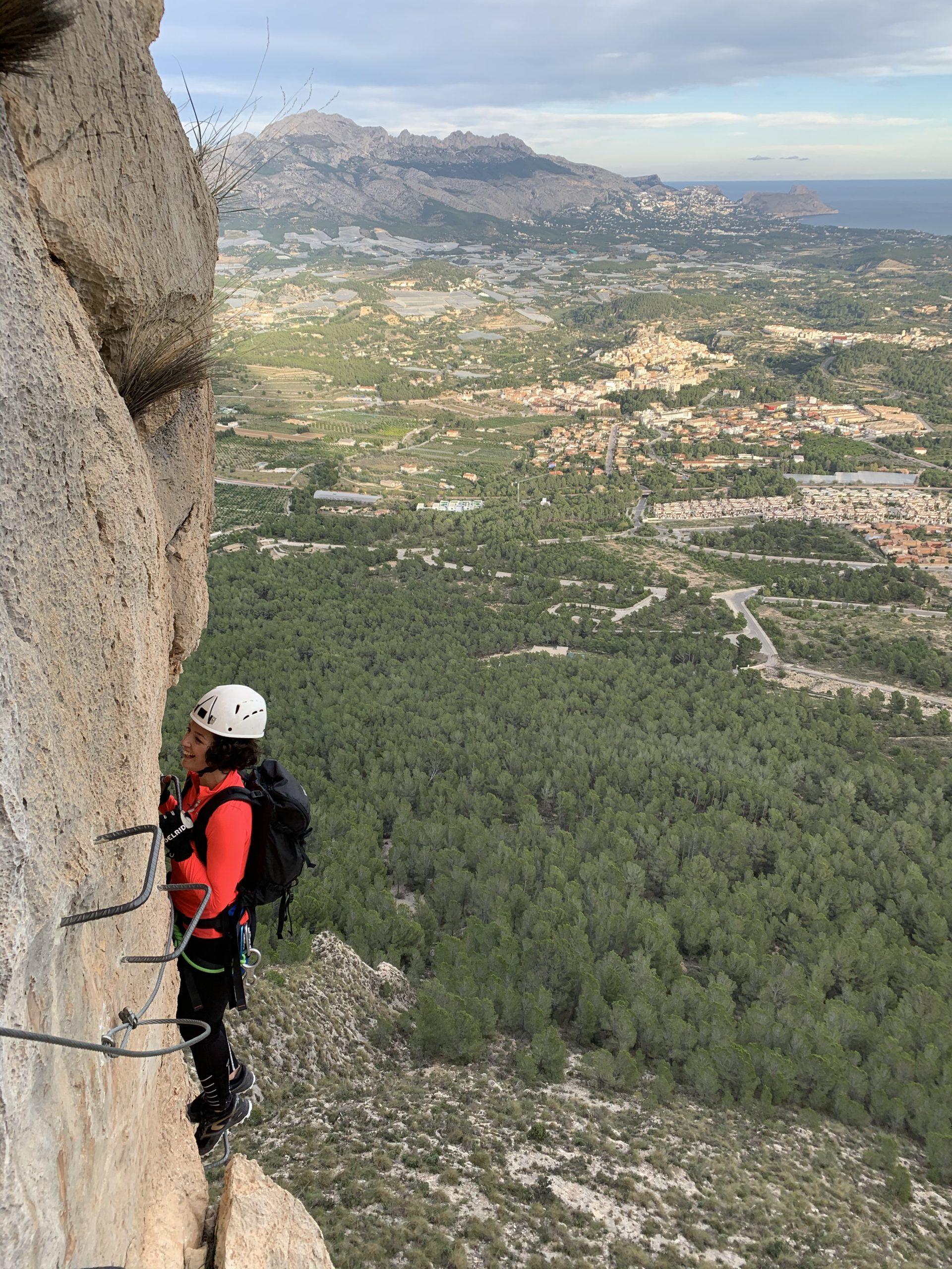Vía ferrata del Ponoig (Polop de la Marina, Alicante)